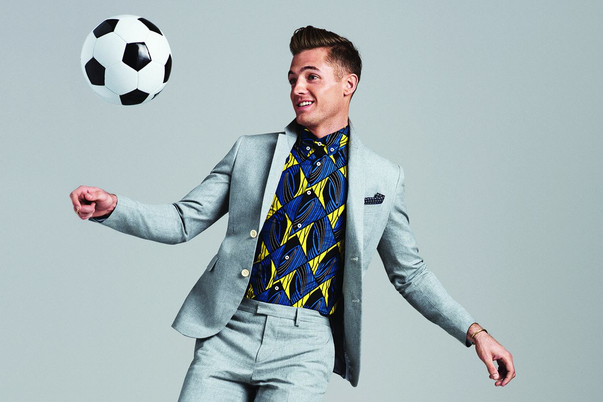 Robbie Rogers sports some colorful printed shirts in the latest issue of GQ.