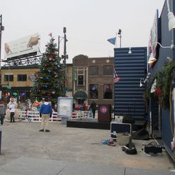 Another view of the setup for the tree ceremony -