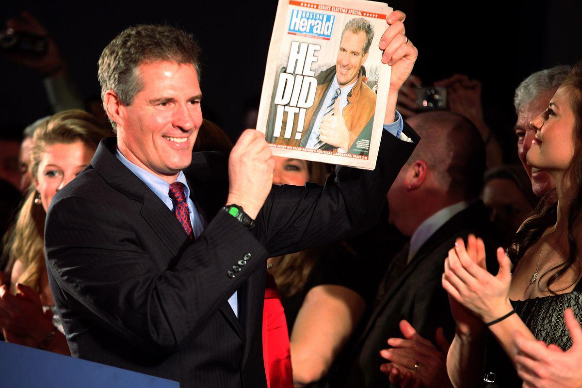 Scott Brown, after being elected senator from Massachusetts