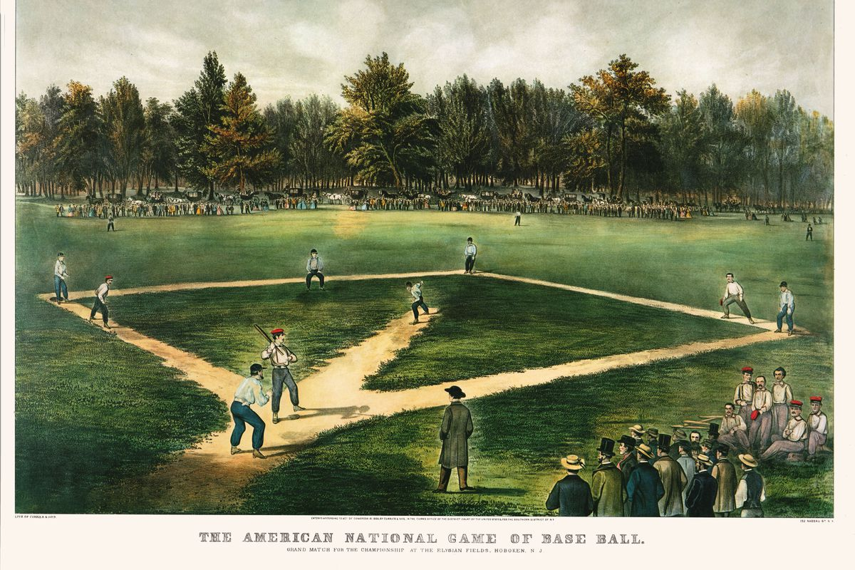 Currier And Ives Baseball Litho 1865