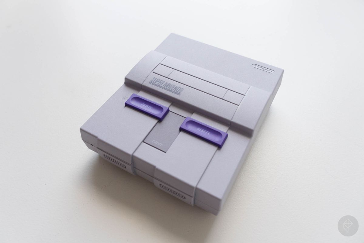 SNES Classic Edition - right top angle view