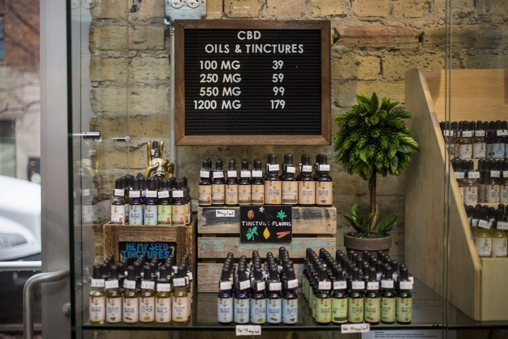 Tinctures at he CBD Kratom Store in Wicker Park. | James Foster/For the Sun-Times