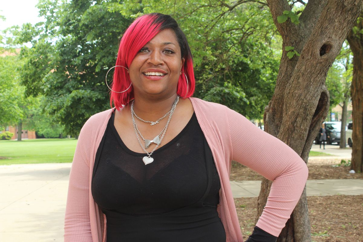 Englewood resident Rebecca Moore, a parent mentor at Bass Elementary School.