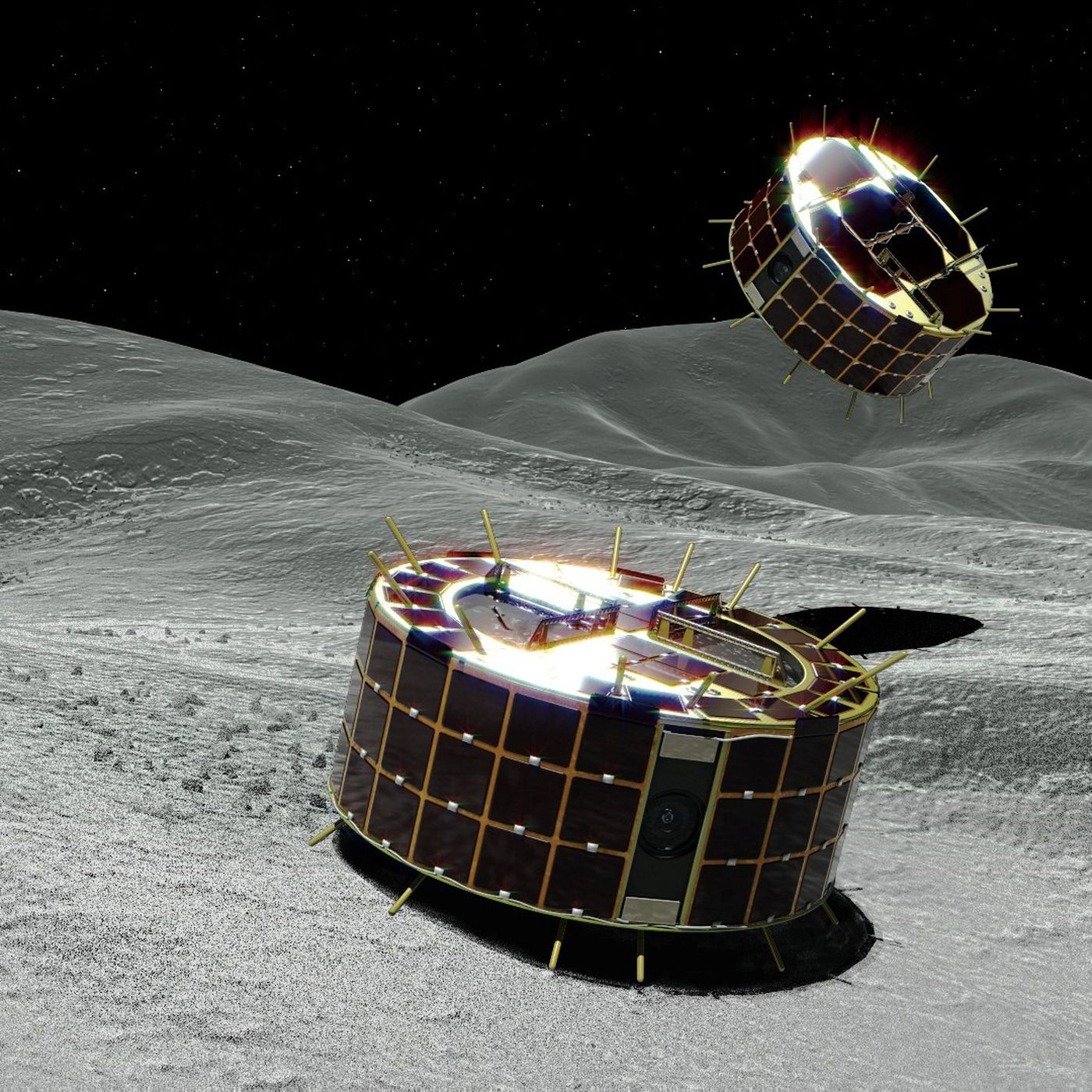 theverge.com - Loren Grush - A Japanese spacecraft just threw two small rovers at an asteroid