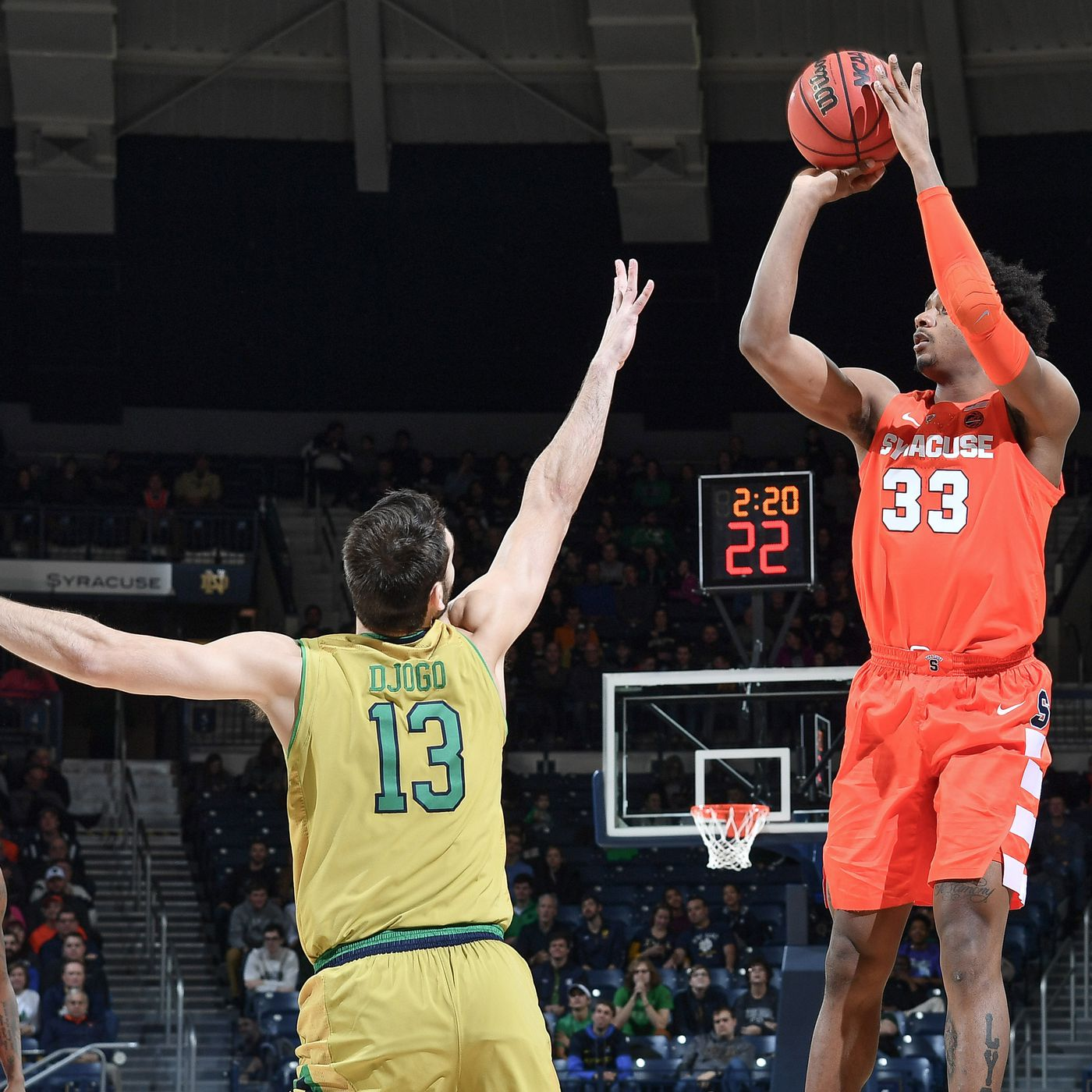 1112a6025cb6 Quick Recap  Notre Dame Men s Hoops Falls to Syracuse 72 to 62 at ...