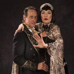 """J. Todd Adams, left, as Theseus and Melinda Parrett as Hippolyta star in the Utah Shakespeare Festival's 2017 production of """"A Midsummer Night's Dream."""""""
