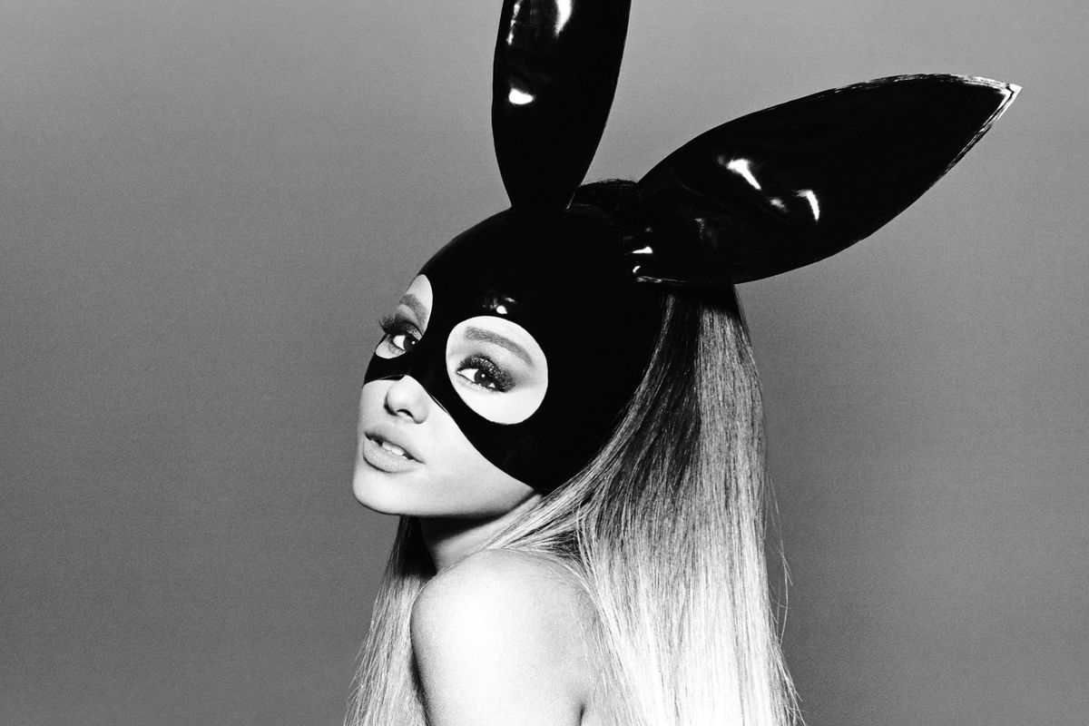 Ariana Grande on the cover of her album Dangerous Woman