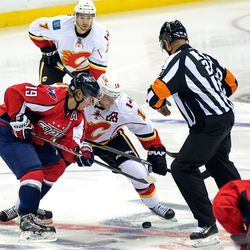 Backstrom and Stajan Face Off