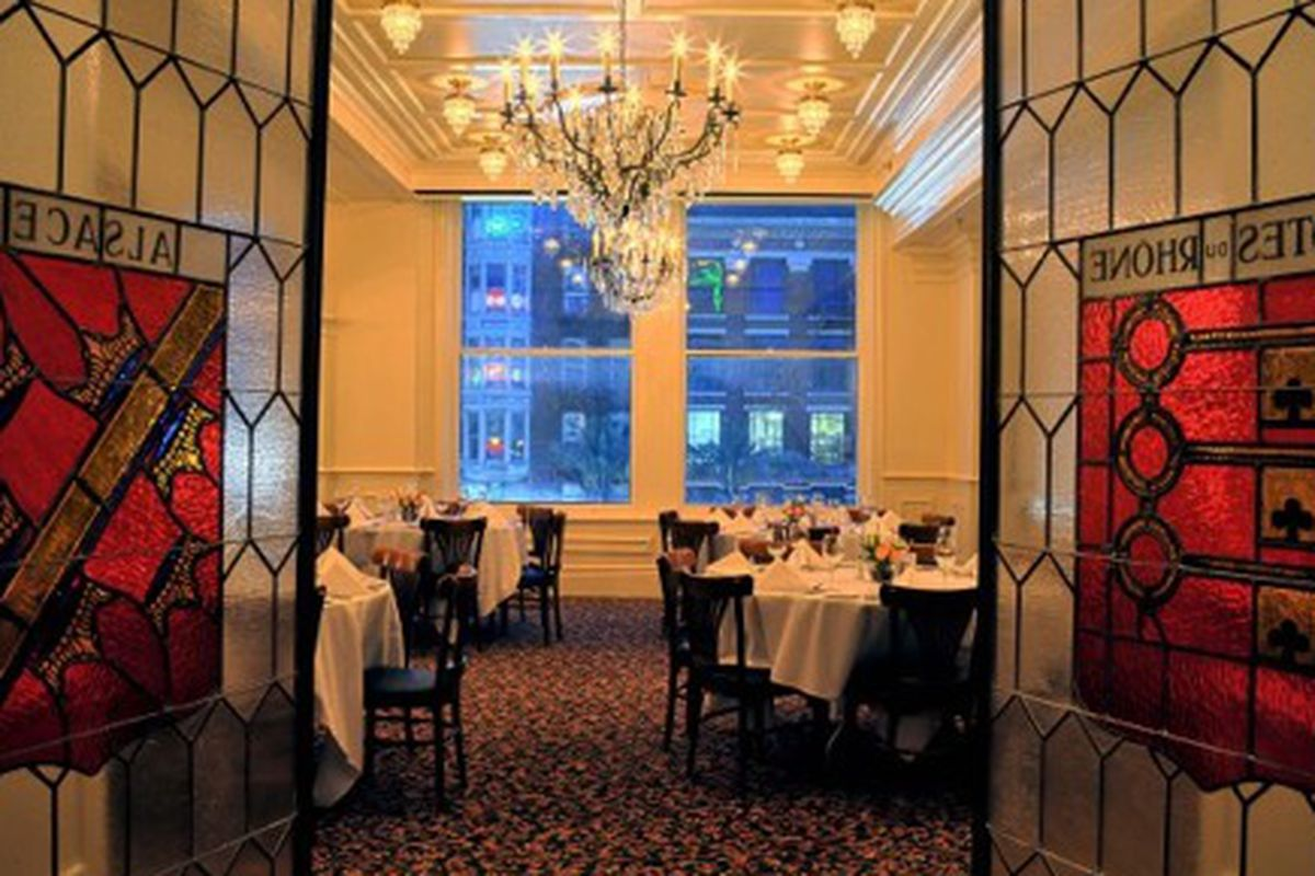 Third floor private dining room at Palace Cafe.
