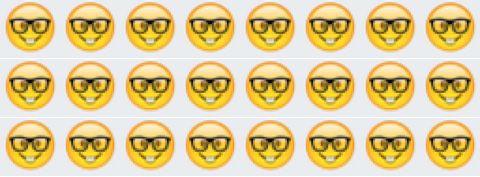 weird glasses emoji