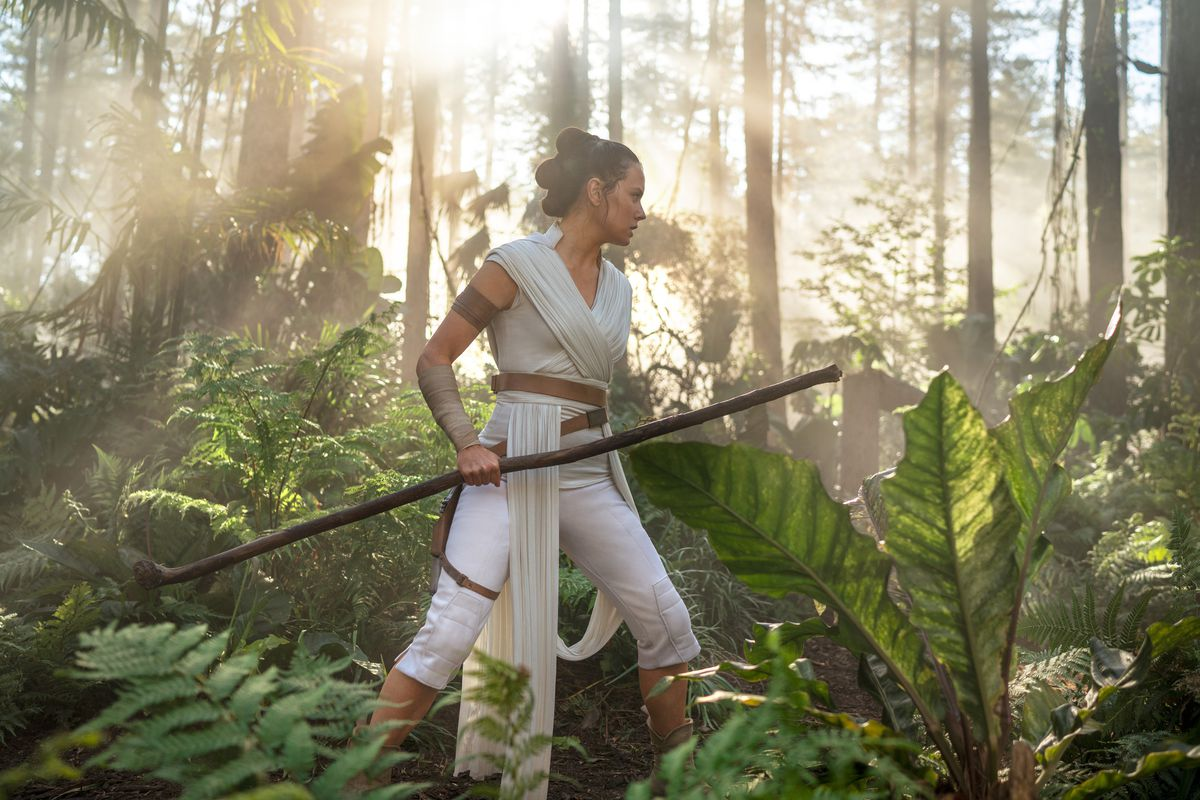 "Rey (Daisy Ridley) in ""Star Wars: The Rise of Skywalker."""