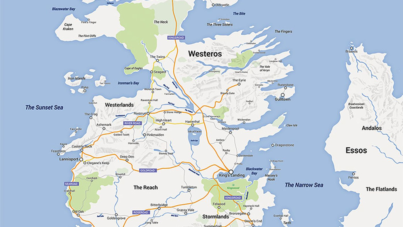 Someone made Game of Thrones into a Google map, and it\'s amazing - Vox