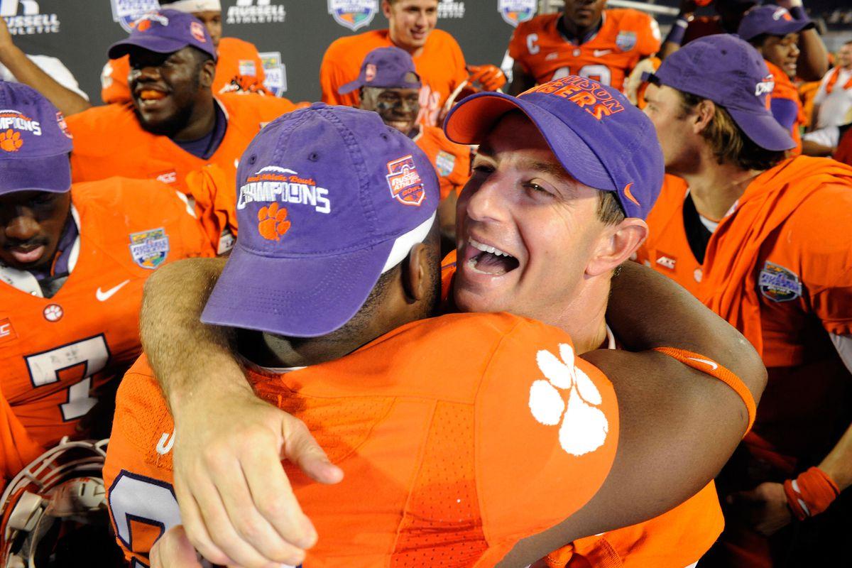 Clemson coach Dabo Swinney after Orange Bowl win