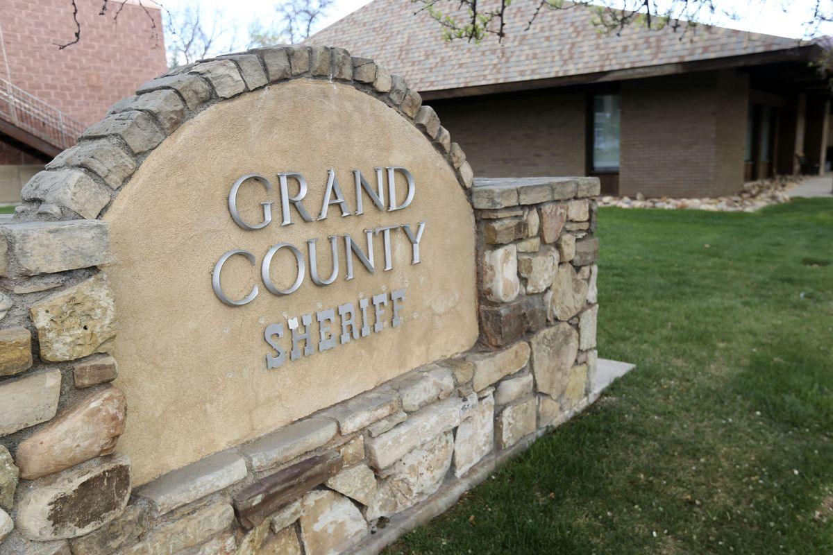 The Grand County Sheriff's Office in Moab is pictured on Saturday, April 18, 2020. A contractor in Moab is offering a $10,000 reward for information leading to the arrest and conviction of the person or people responsible for the shooting deaths of two women.