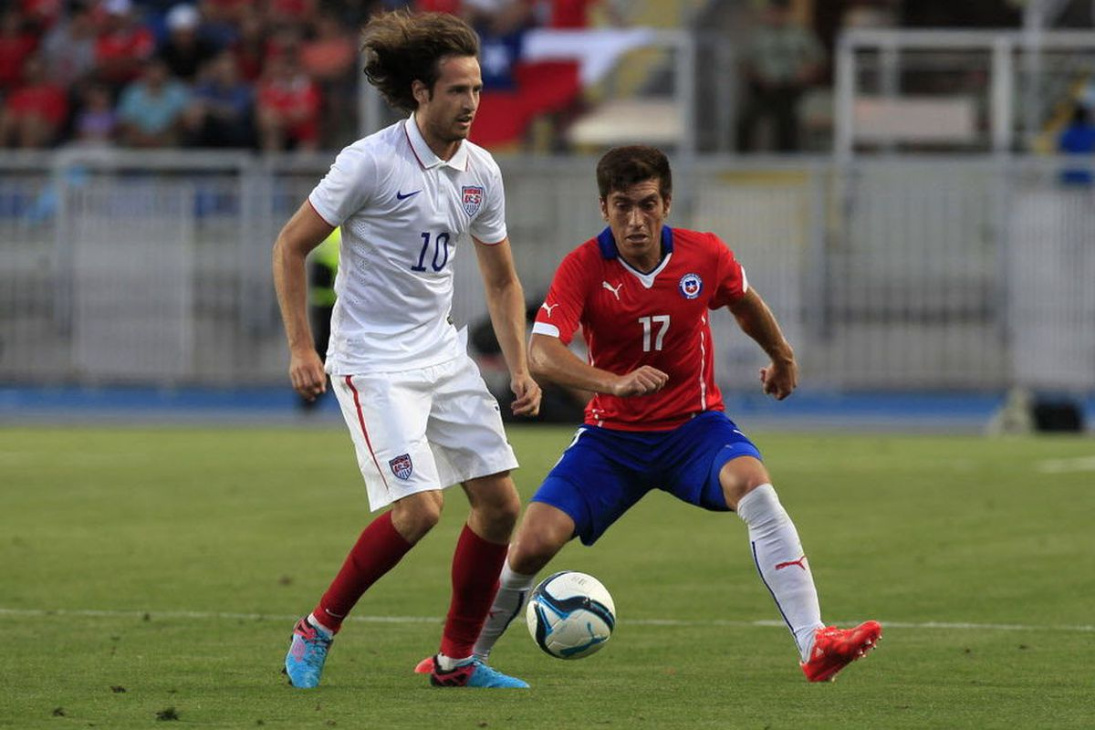 Mix Diskerud went 60 minutes in the 3-2 loss to Chile