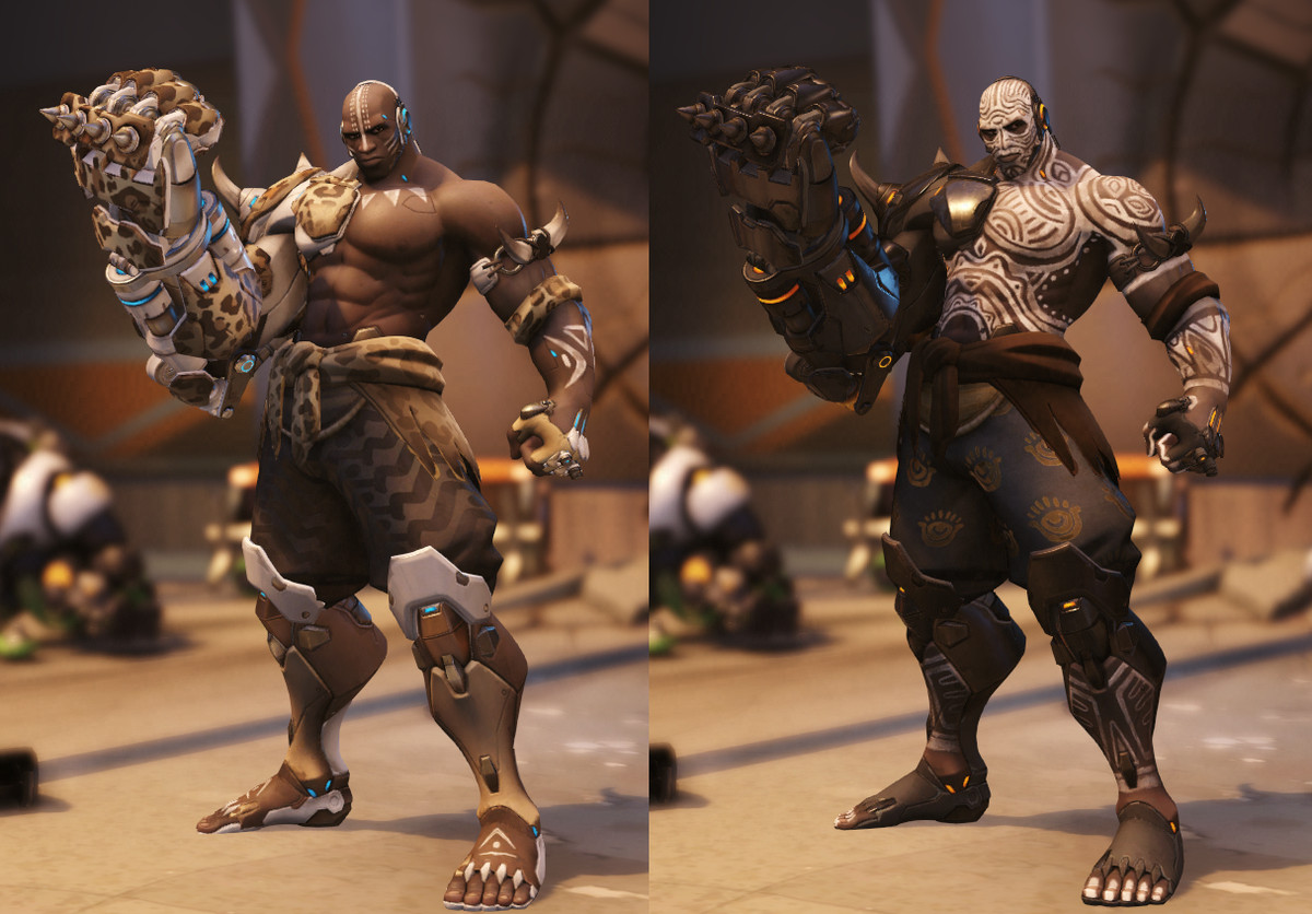 Doomfist's epic skins are a steal at 250 credits each.