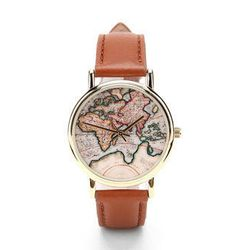 """<b><a href=""""http://www.urbanoutfitters.com/urban/catalog/productdetail.jsp?id=22195846&parentid=WOMENS_ACCESSORIES"""">Urban Outfitters</a></b> Around the World leather watch, $39"""