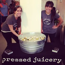Pressed Juicery quenching our thirst.