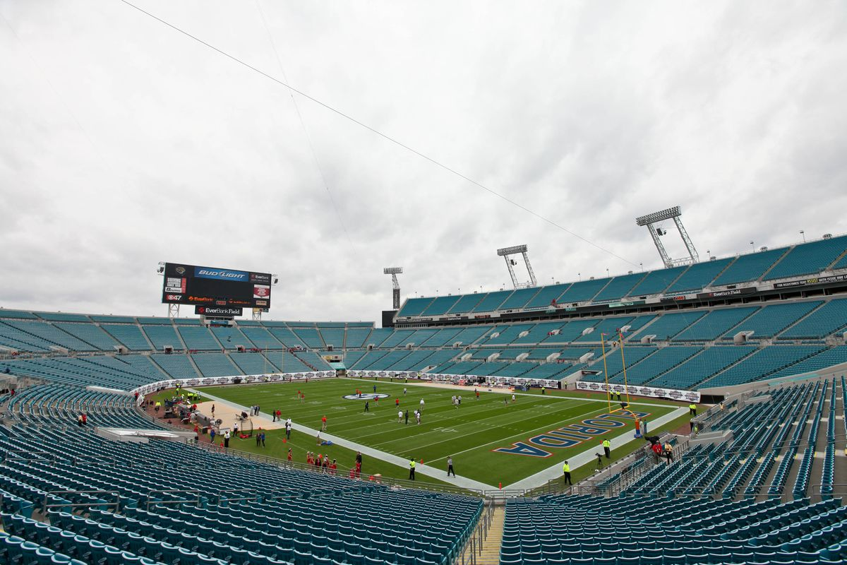 Typical attendance for a Jacksonville Jaguars game