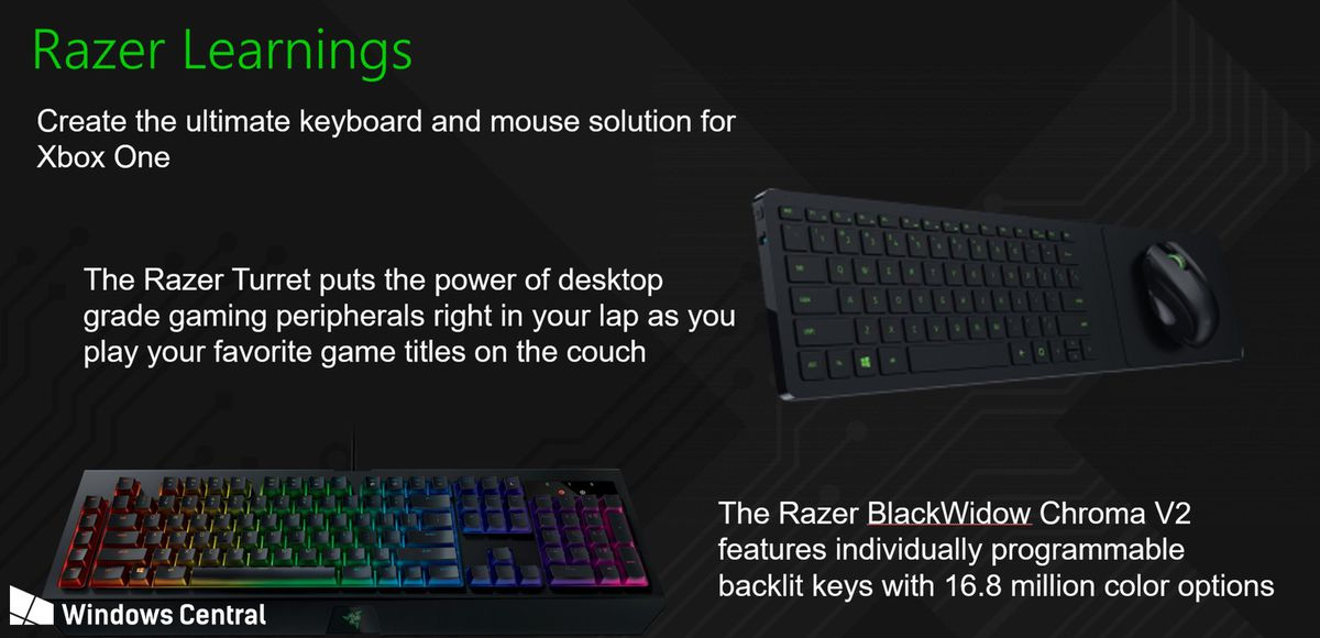 Microsoft and Razer are working on Xbox keyboard and mouse