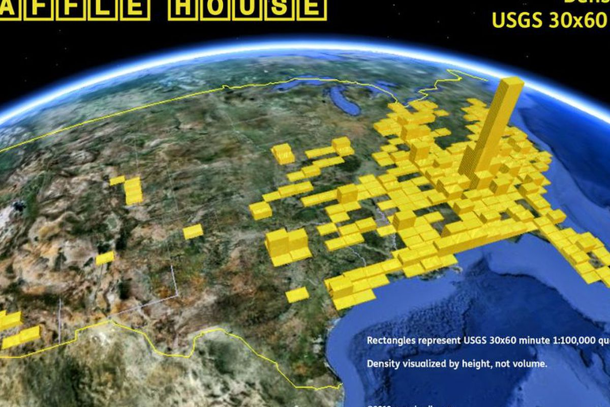 The American South Is Littered With Waffle Houses Eater - Tumblr us map