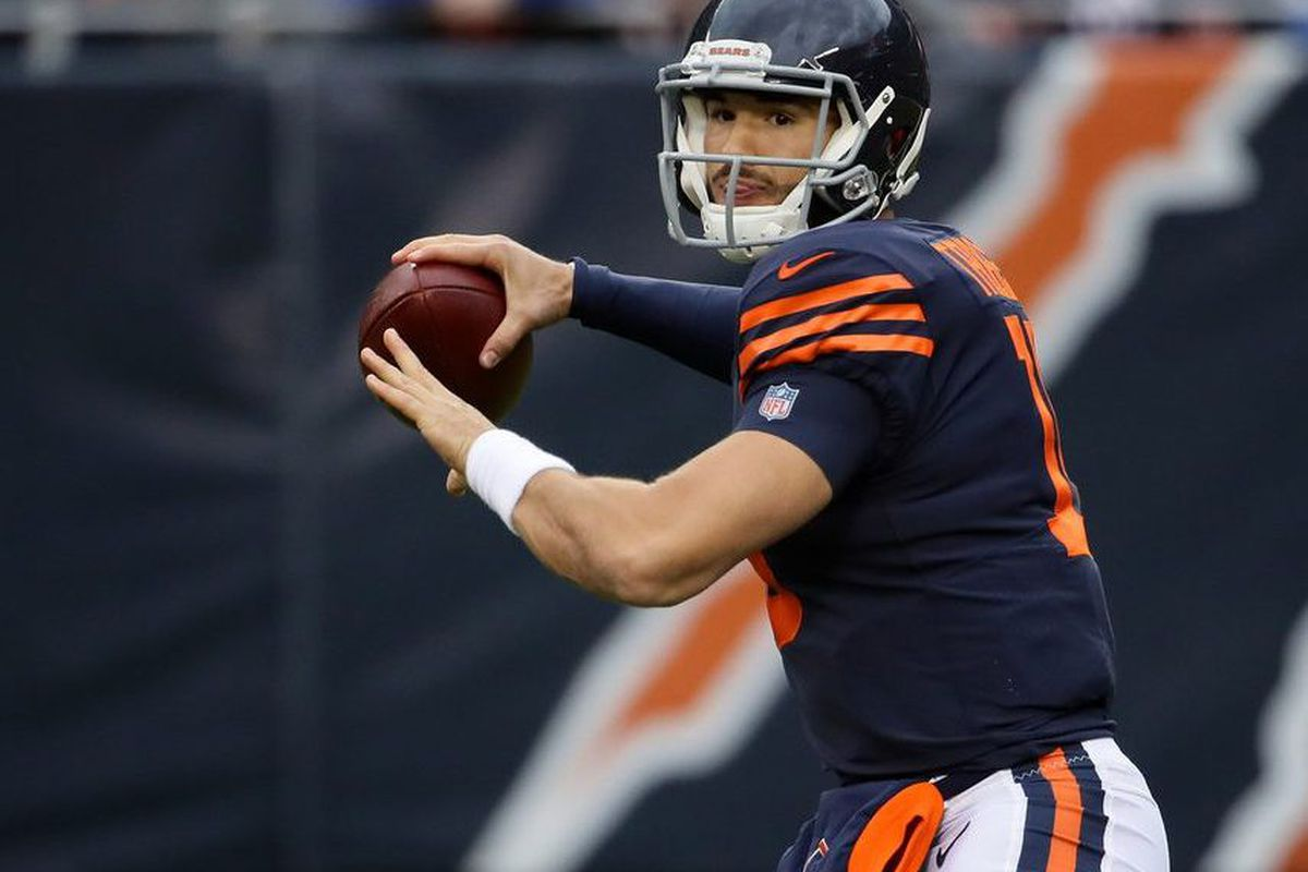 505523c06a4 QB Mitch Trubisky has been criticized but he's still winning for the Bears.  | Jonathan Daniel/Getty Images