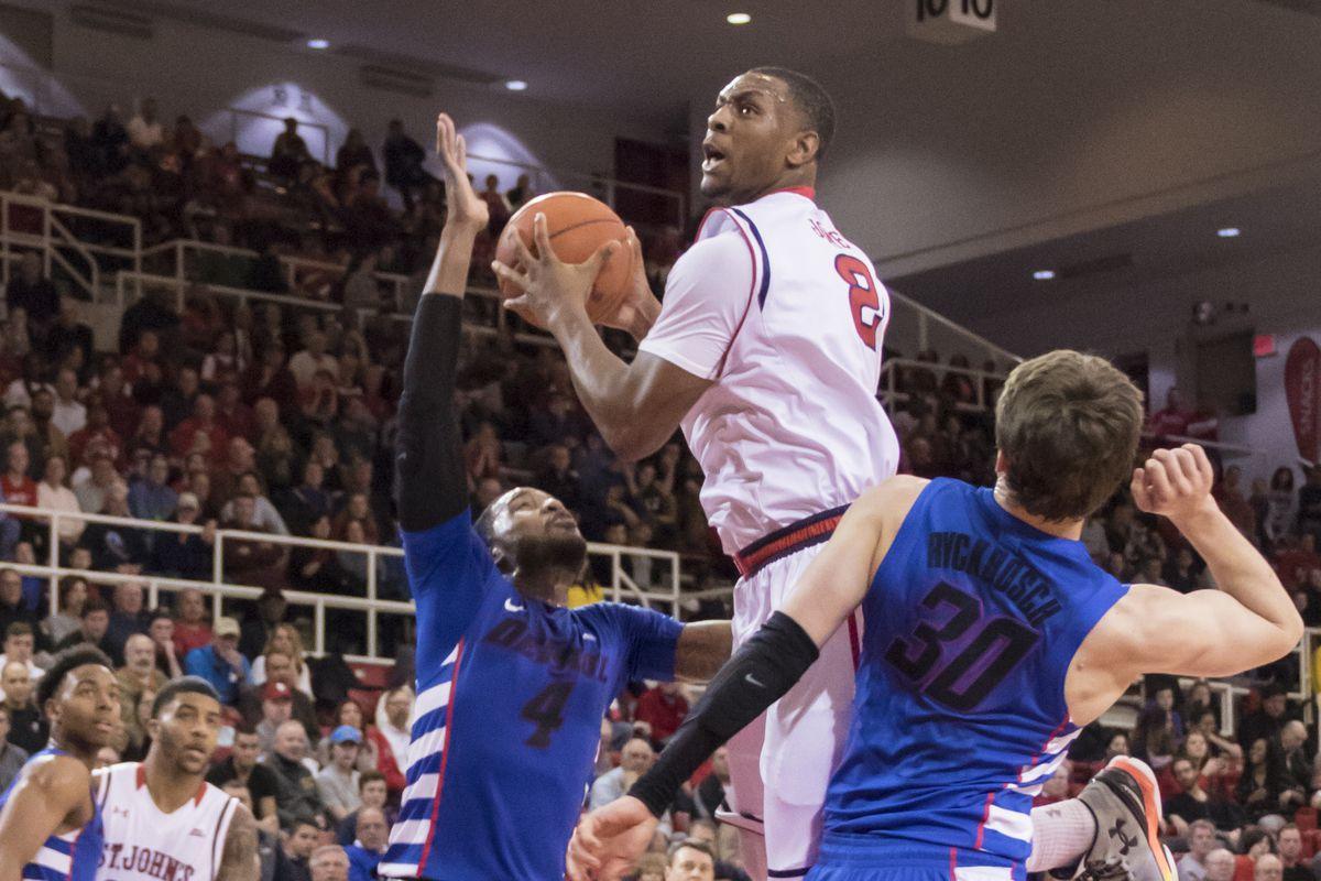 Christian Jones at the basket