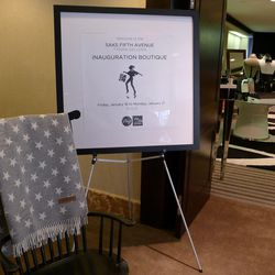 Hotel guests can shop for cufflinks, clutches, Edward Marc Capitol collection chocolate, and patriotic blankets to bring to the Inauguration ceremony.