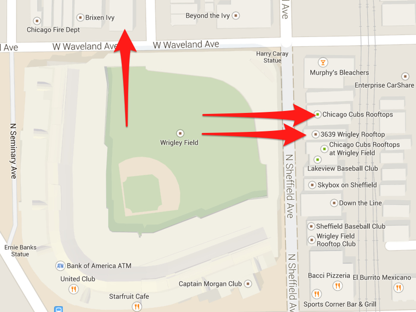 Ricketts Family Buys Three Wrigley Field Rooftop Properties - Chicago fire map