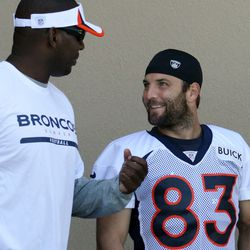 Wes Welker walks out for day two