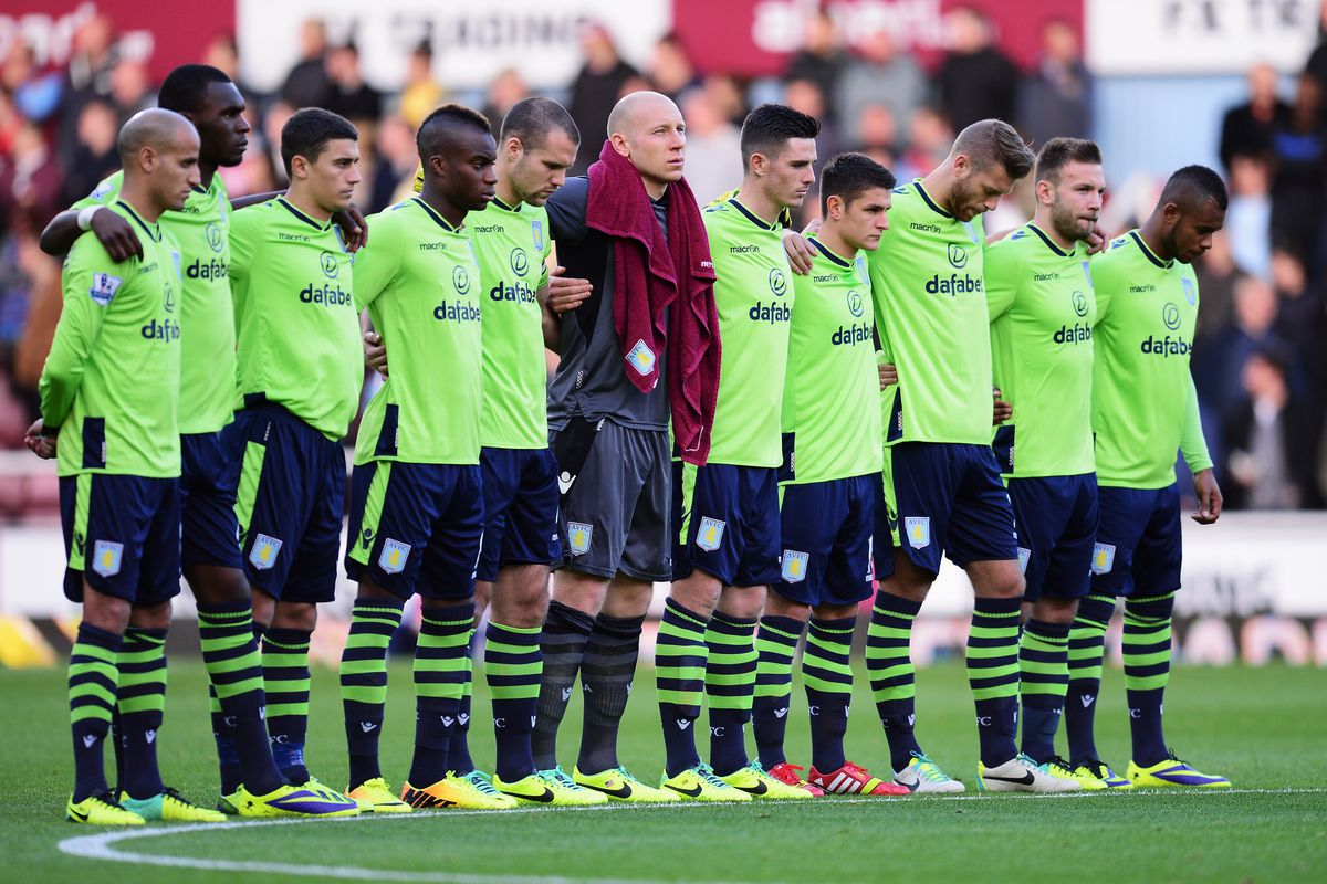 A minute of silence for the deceased Aston Villa offense.