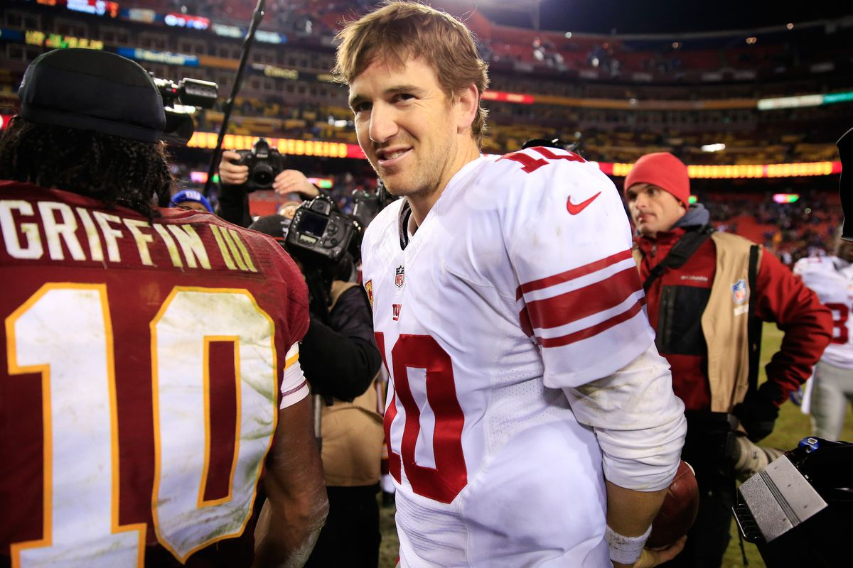 Eli Manning and the Giants had reason to smile Sunday night