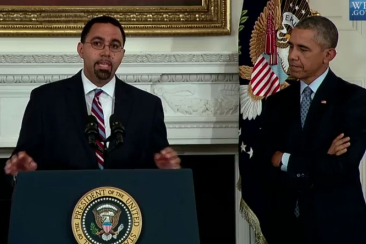 President Obama announced Friday that former New York State Education Commissioner John King would replace Arne Duncan as U.S. education secretary. ( Photo by WhiteHouse.gov )