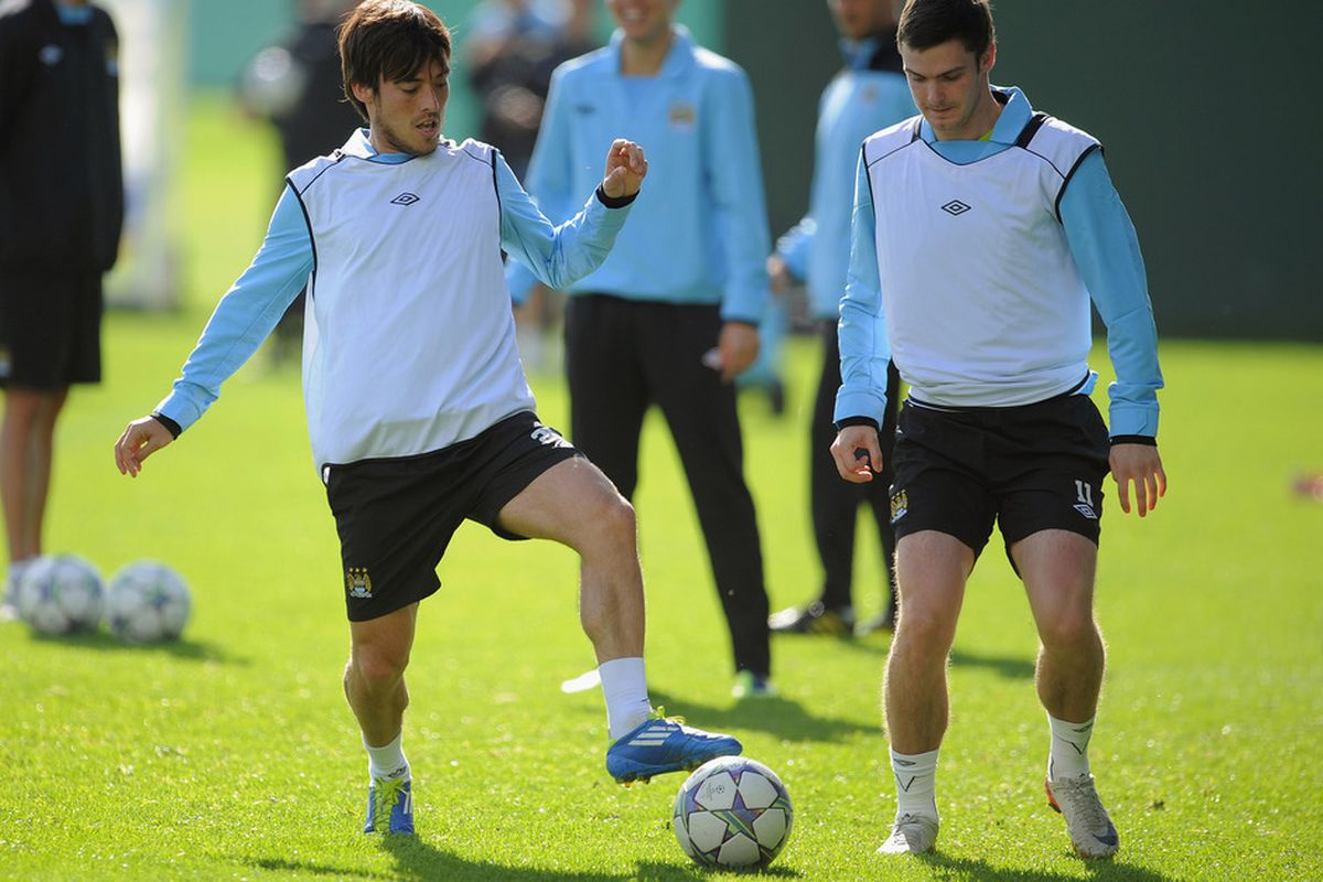 Adam Johnson should get the nod to join David Silva in midfield after staying on the bench against Arsenal.