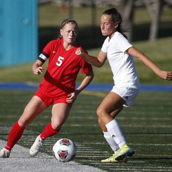 Manti and Juab compete in the 3A high school soccer semifinals at Juan Diego High School in Draper on Wednesday, Oct. 21, 2020.