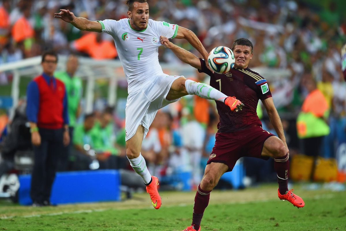 Yebda in action at the 2014 World Cup