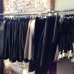 Jackets, $200. There's also tanks ($60), pants ($100), dresses ($150), shorts and skirts ($75), long-sleeve tops ($100) and sweaters ($75).