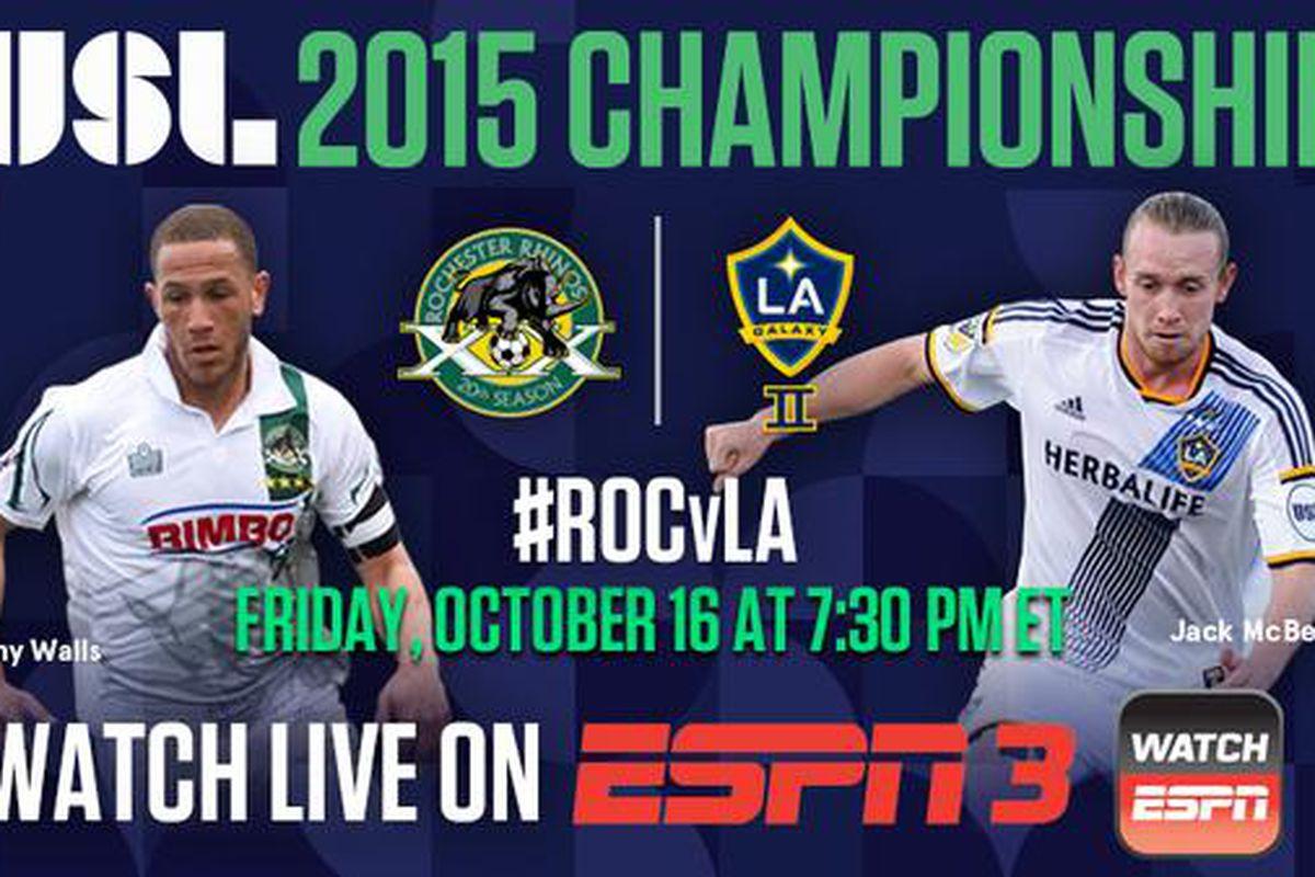 Rochester Rhinos host LA Galaxy II