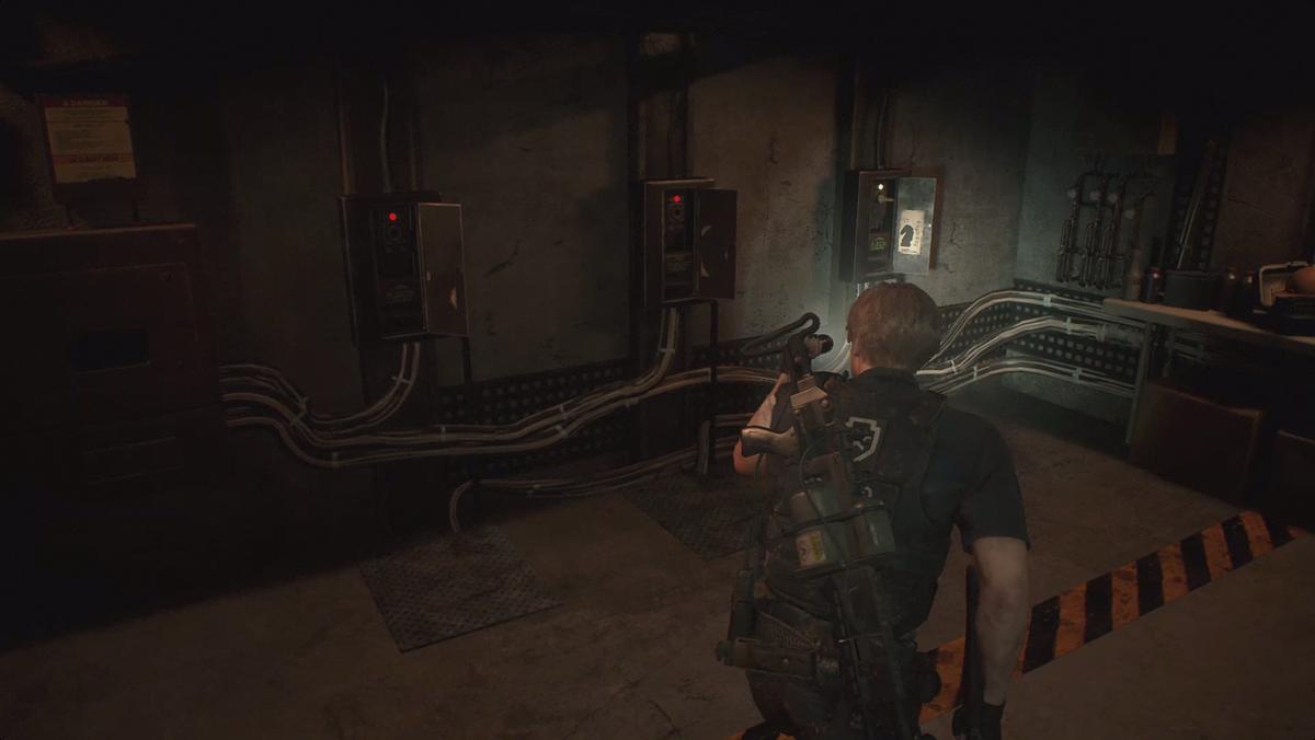 Resident Evil 2Chess piece plug puzzle