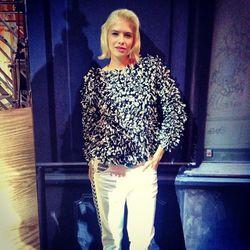 "Model and Russian street style star Elena Perminova. Photo <a href=""http://instagram.com/p/f3kB_BPh8F/#"">via</a>."