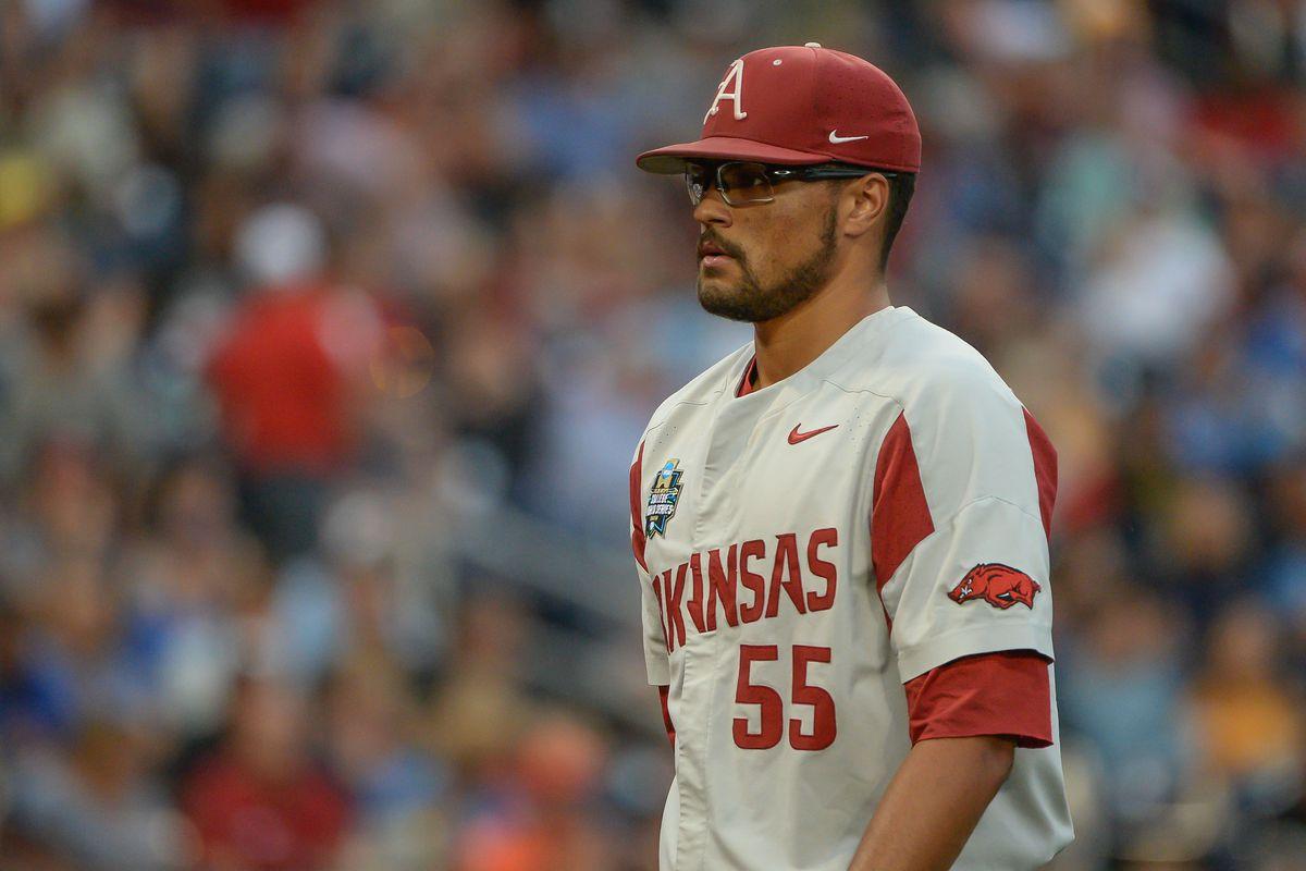 NCAA Baseball: College World Series-Arkansas vs Florida