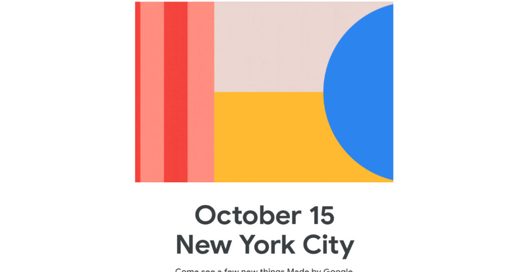 Google announces October 15th hardware event for Pixel 4
