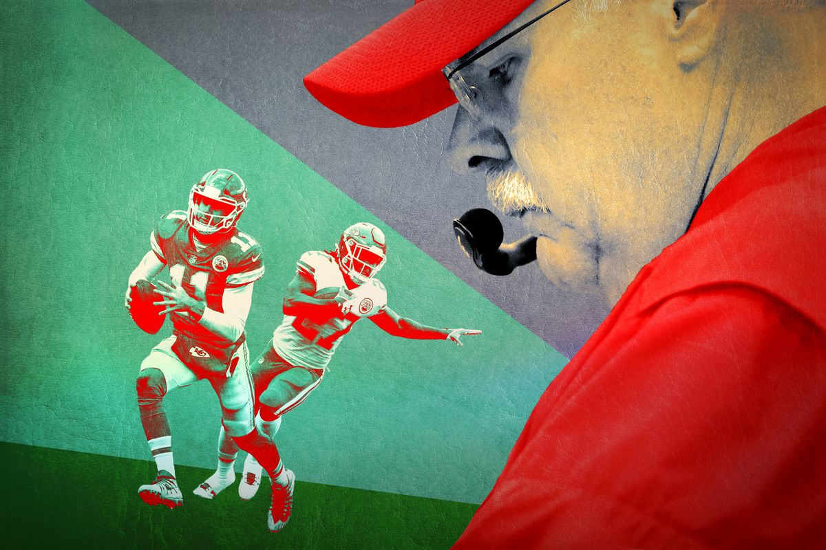 Andy Reid and two Chiefs players