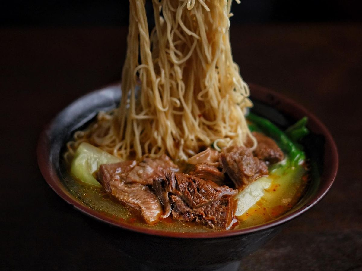 The beef noodle soup at Jade