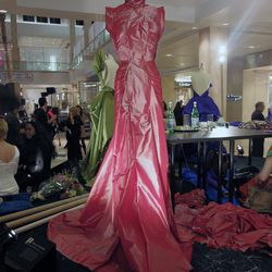 FIDM student and emerging designer Mohamed Salaheldin took home the big prize for his red carpet gown.