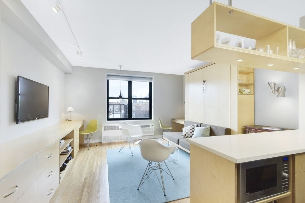 48 NYC Studios That Prove Small Spaces Can Be Stylish Too Curbed NY Classy 2 Bedroom Apartments For Rent In Dc Minimalist Remodelling
