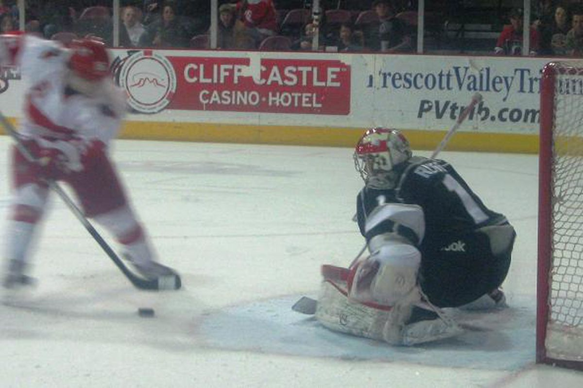Adam Russo was named Goalie of the Week on 1/22/13