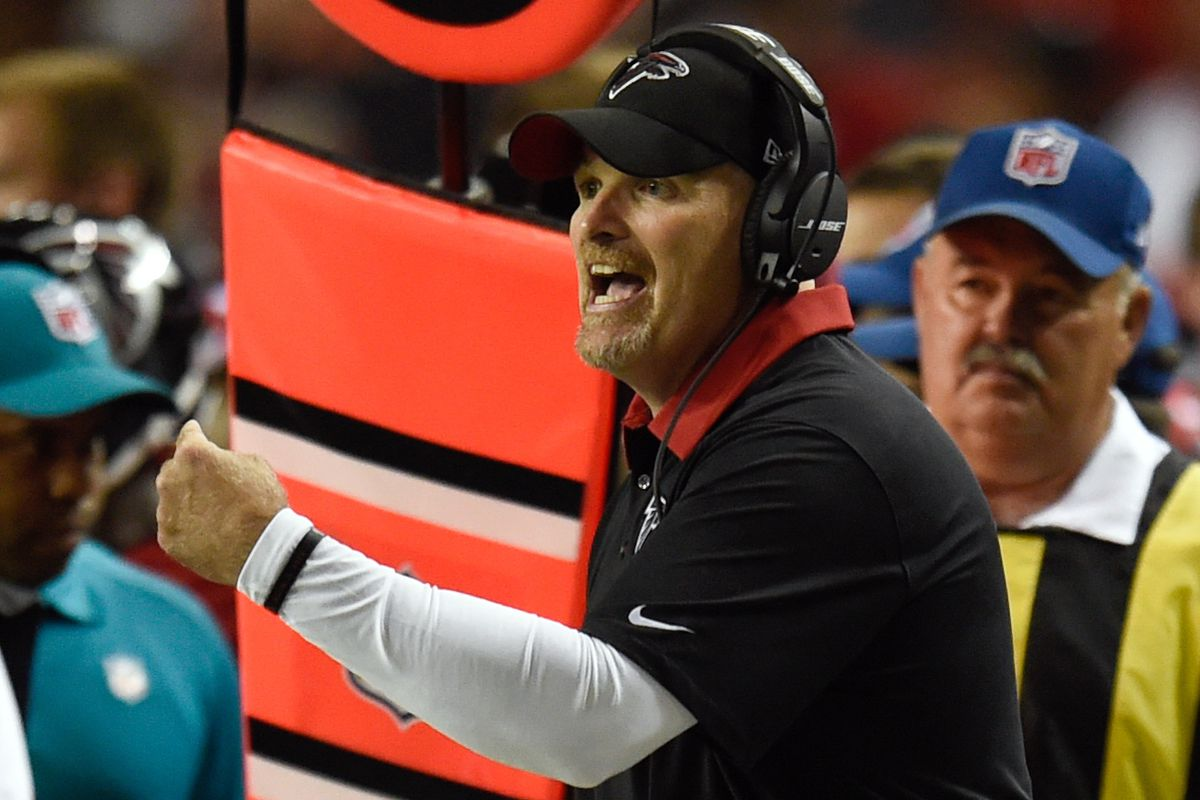 Atlanta Falcons head coach Dan Quinn brings a new energy level to the team in his first year at the helm.