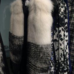 Fox fur vest, size 2, $5,000 (was $10,000)