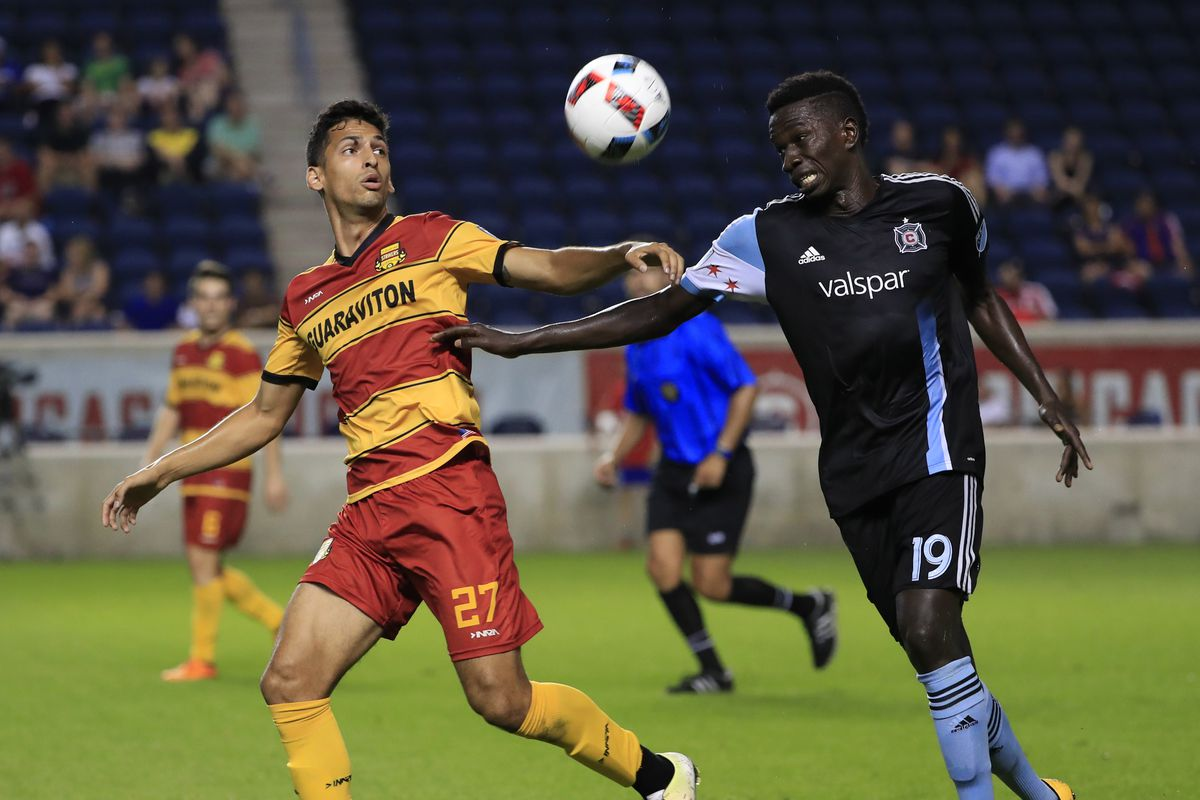 MLS: U.S. Open Cup Quarterfinal-Fort Lauderdale Strikers at Chicago Fire